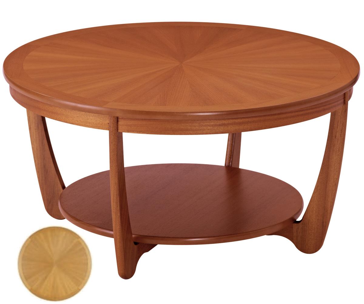 Nathan Shades Teak 5924 Sunburst Round Coffee Table Coffee Tables