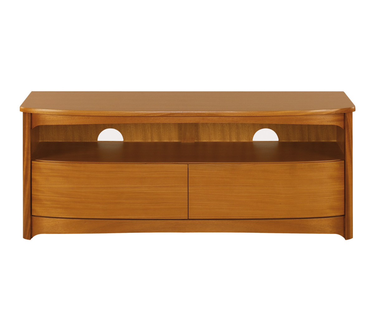 Nathan Shades Teak 5934 Shaped TV Unit with Drawers