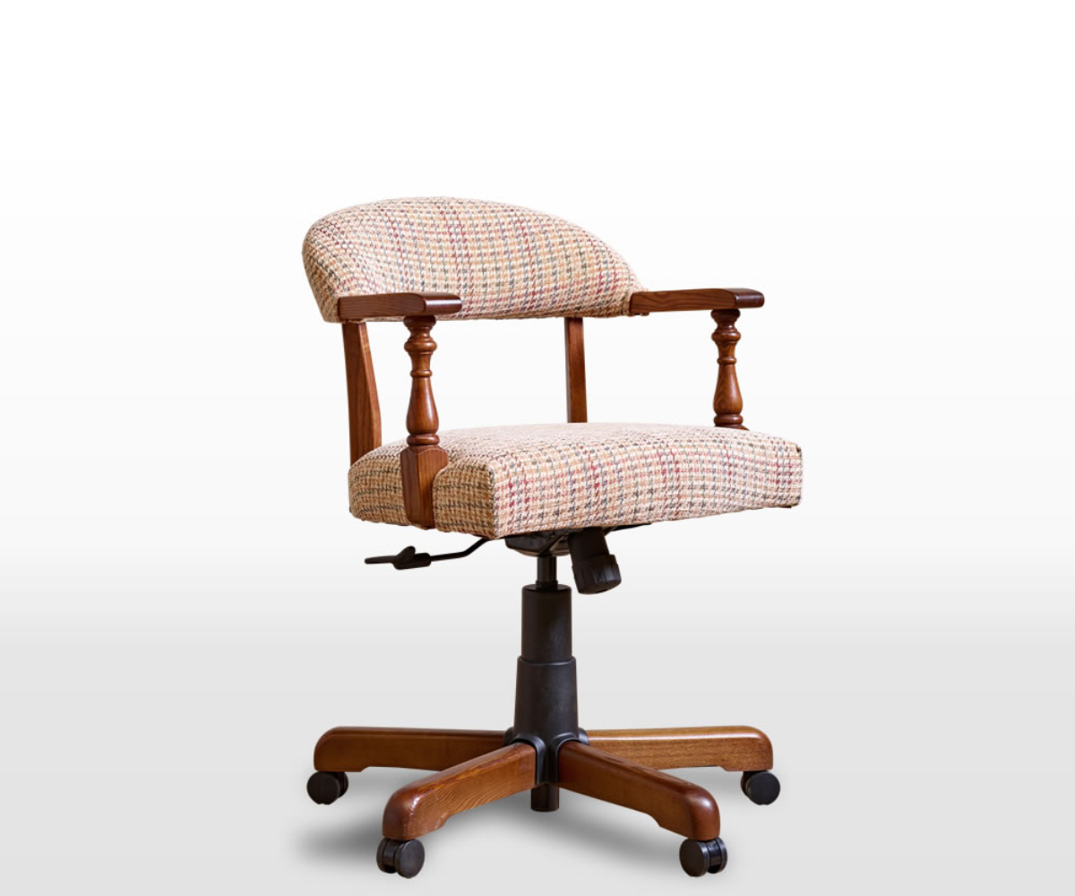 Old Charm Classic 3032 Fabric Captains Chair
