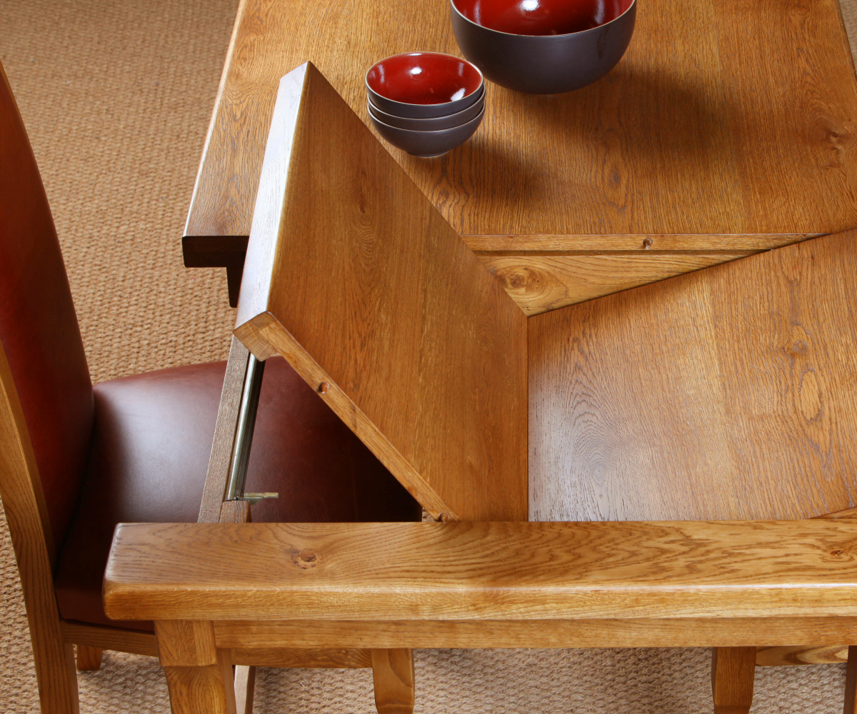 Old Charm Chatsworth 2935 End Extending Dining Table ...