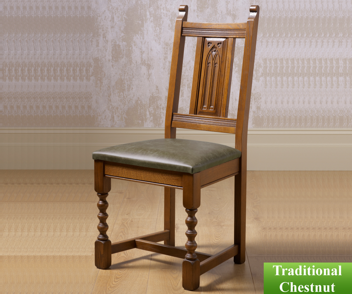 Old Charm Classic 2286H Warwick Hide Dining Chair
