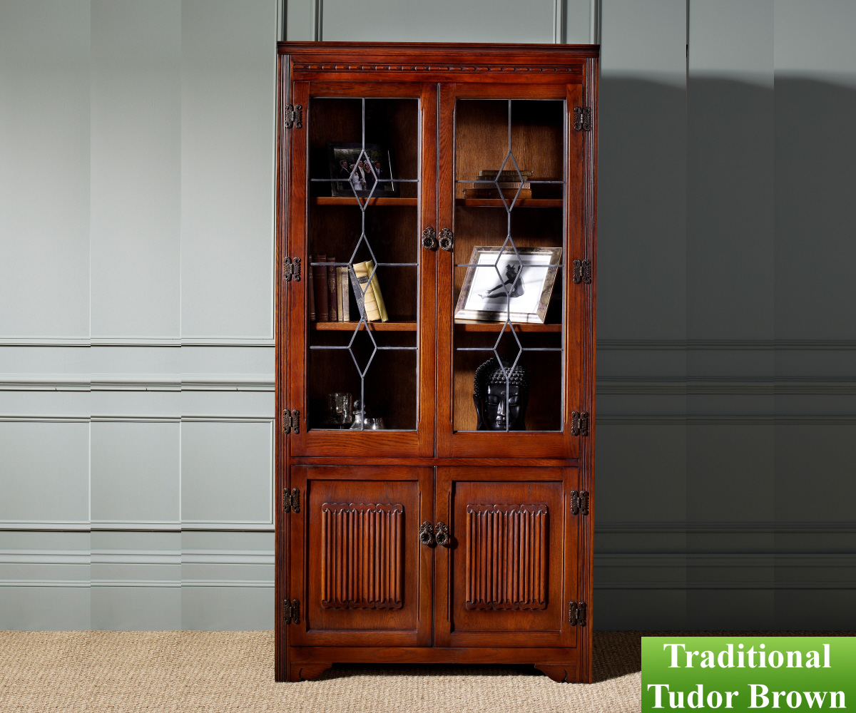 Old Charm Classic 2664 Bookcase Leaded Light Top
