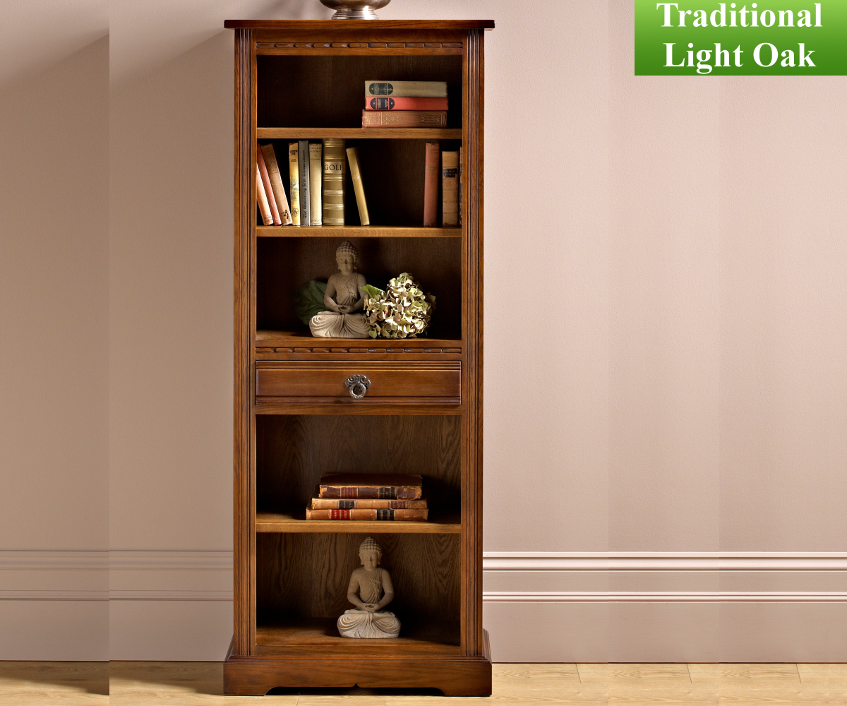 Old Charm Classic 2794 Narrow Bookcase with Drawer