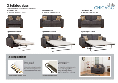 Buoyant Chicago Full Corner Group E with Bed & Stool