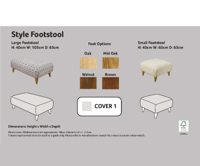 Buoyant Style Small Footstool
