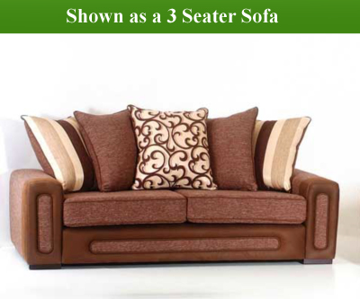 Red Rose Libby 3 Seater Sofa and 2 Seater Sofa
