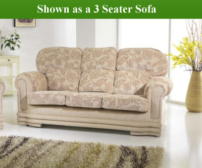 Red Rose Maria 3 Seater Sofa and 2 Chairs