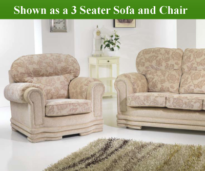 Red Rose Maria 3 Seater Sofa and 2 Seater Sofa