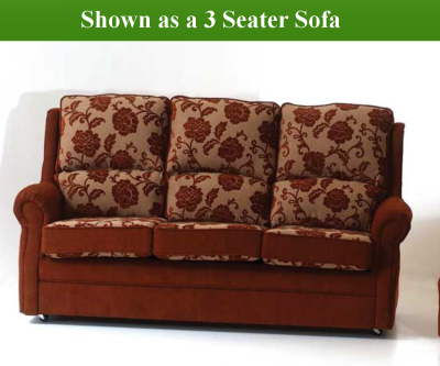 Red Rose Valencia 3 Seater Sofa and 2 Chairs