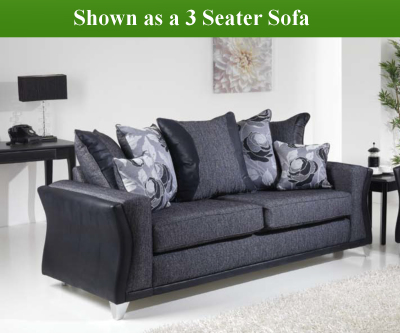 Red Rose Wave 2 Seater Sofa