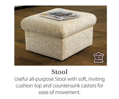Sherborne Hide Universal Stool with Storage Option