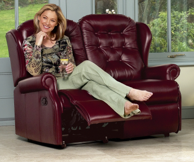 Sherborne Lynton Hide Standard Reclining 2 Seater Sofa Manual or Electric Option