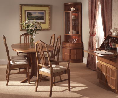 Nathan Classic Teak 2104 Large Oval Pedestal Dining Table