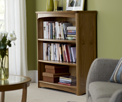 Nathan Editions Teak 6994 Mid Single Bookcase